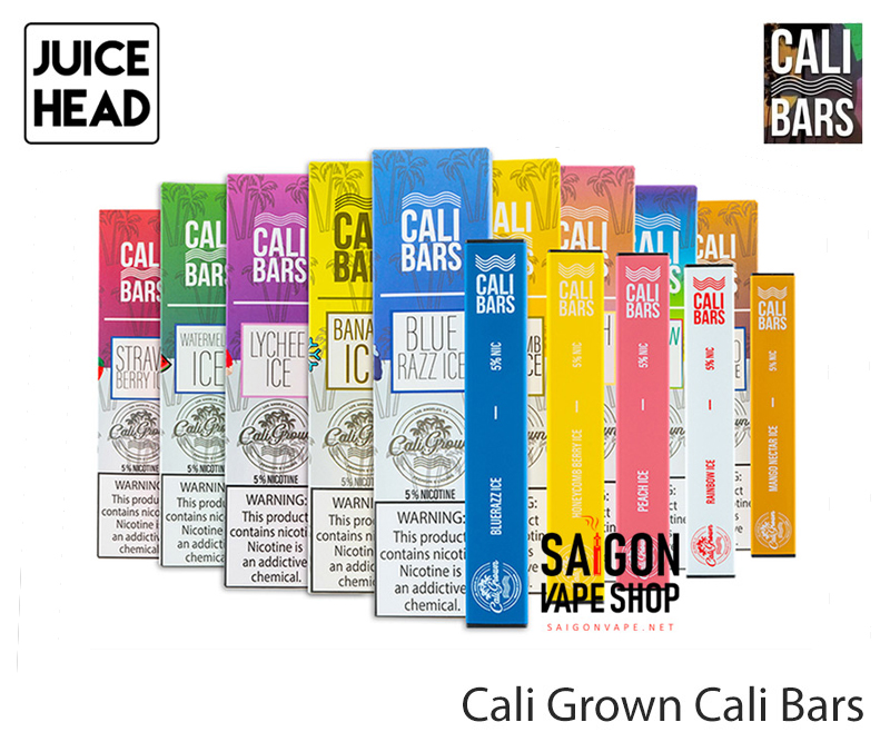 Juice Head Cali Grown Cali Bars Disposable Vape